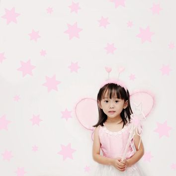 49 Baby Pink Star Wall Decals
