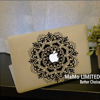 Totem flowers-Macbook Decals Macbook Stickers Macbook Skins Mac Cover Skins Vinyl Decal for Apple Laptop Macbook Pro Macbook Air Cover Skins