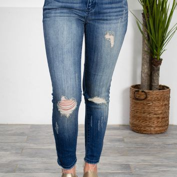 Skinny Fit Cropped Ankle Denim
