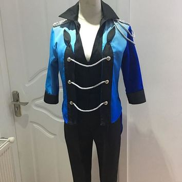 Anime YURI!!! on ICE Katsuki Yuri Cosplay Costume YURI on ICE Uniform Suit Outfit Clothes Shirt & Coat & Pants & Gloves