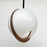 Atomic Ceiling Light - White Space Age Ceiling Lamp Pendant Lamp / 70's Italy