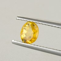1.04ct Canary Yellow Sapphire Oval