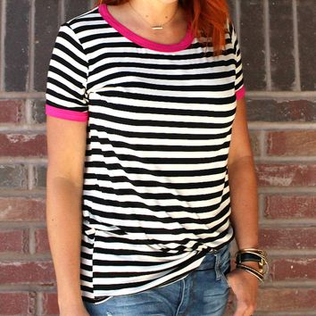 Spring Break Striped Tee | Stipes and Color Accents