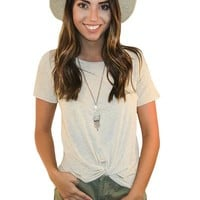 Knot Your Average Tee In Oatmeal | MACA Boutique
