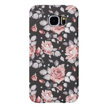 Vintage Pink Floral Pattern Samsung Galaxy S6 Cases