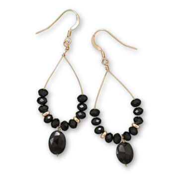 Black is Back Drop Earrings
