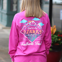 Lost in the Ozarks Long Sleeve Tee {Raspberry}