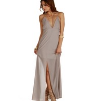 Taupe Bloom Maxi Dress