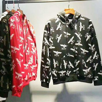BOY Fashion Casual Sport Long Sleeve Hooded Pullover Print Sweater G-WMGCD-1