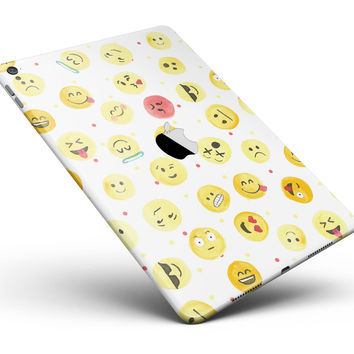 """The All Over Emoji Pattern Full Body Skin for the iPad Pro (12.9"""" or 9.7"""" available)"""