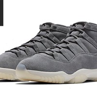 AIR JORDAN 11 RETRO PINNACLE 'GREY SUEDE'