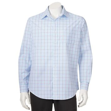 Croft & Barrow Plaid Easy-Care Casual Button-Down Shirt - Big &