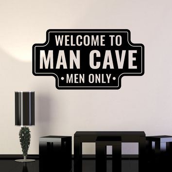 Vinyl Wall Decal Man Cave Funny Art for Men Garage Manspace Decor Stickers Mural Unique Gift (ig5134)