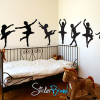 Vinyl Wall Decal Sticker Little Dancers Children Ballerinas #816