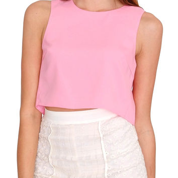 Honesty Crop Top - Pink