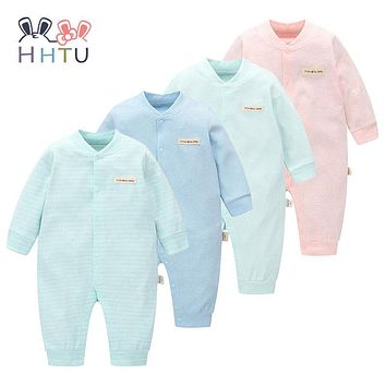 HHTU Brand Baby Rompers Boys Girls Clothing Quilted Long Sleeve Jumpsuits Newborn Clothes Boneless Sewing Children Cotton Winter