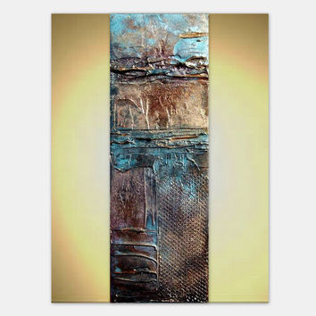FREE SHIPPING Large Wall Art Metal Print of  Original Contemporary Abstract Painting AMARA by Holly Anderson 36""