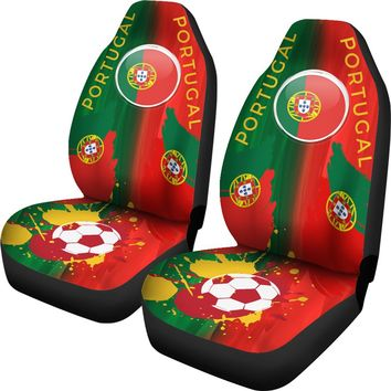 2018 FIFA World Cup Portugal Car Seat Covers 2pcs