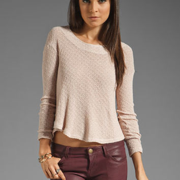 Wilt Slit Back St. Shrunken Spider Sweater in Barley from REVOLVEclothing.com