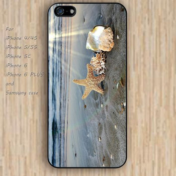 iPhone 5s 6 case Sun Romantic beach Shell Beach dream phone case iphone case,ipod case,samsung galaxy case available plastic rubber case waterproof B676