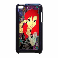 Ariel Little Mermaid Tattoo With Flower Cover iPod Touch 4th Generation Case
