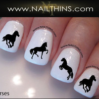 Horse Nail Decal Horses Nail Art Designs by NAILTHINS by NAILTHINS
