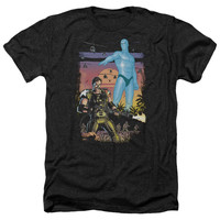 Watchmen Winning the War Black Heathered Duo-Blend T-Shirt