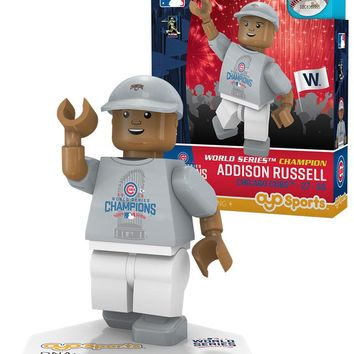 Chicago Cubs ADDISON RUSSELL World Series T-Shirt Limited Edition OYO Minifigure