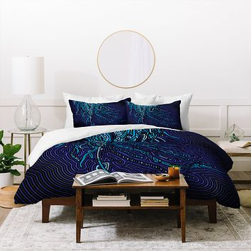 John Turner Jr Jellyfish B Duvet Cover