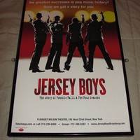 Jersey Boys - Broadway Window Card - Autographed By John Lloyd Young