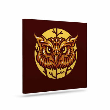 "BarmalisiRTB ""Head Owl"" Brown Digital Canvas Art"