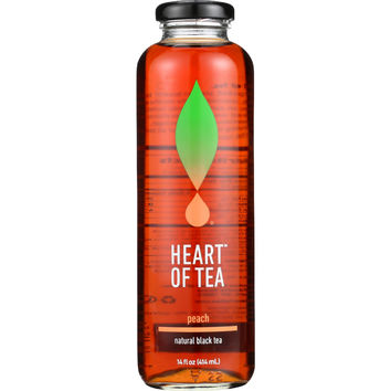 Heart Of Tea Tea - Iced - Natural Black - Peach - 14 oz - case of 12