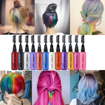 13 Colors Temporary Hair Dye Mascara Hair Dye Cream Hair Coloring Non-toxic DIY Hair Dye Pen creme para cabelo #121
