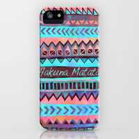 Hakuna Matata Tribal iPhone & iPod Case by AliciaMarie