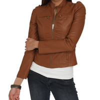 Smocked Faux Leather Jacket | Shop Jackets at Wet Seal