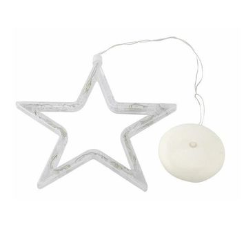1PCS Christmas Party Window LED Star Fairy Lights with Suction Cup (without Batteries )