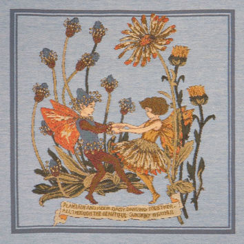 Plantain and Calendula Fairies Cicely Mary Barker