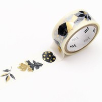 mt fab Washi Tape Single Gold Leaves