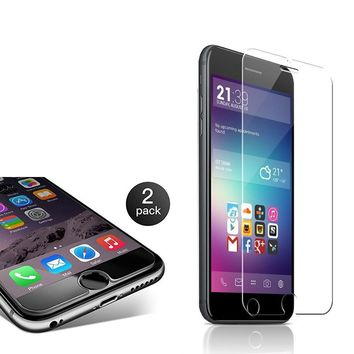 9H Tempered Glass for iPhone 6 /6S /7 /8 Screen Protector, 2 pack