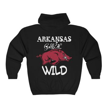 Arkansas Girl Hog Wild Full Zip Hoodie