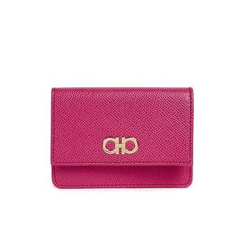 DCK4S2 Salvatore Ferragamo Women's Gancini Card Case