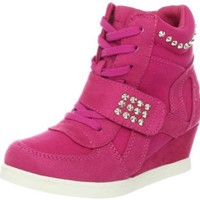Steve Madden J-Hamlit Sneaker (Little Kid/Big Kid),Fuchsia,4 M US Big Kid