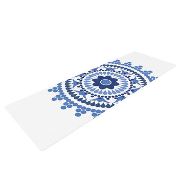 "Carolyn Greifeld ""Bohemian Blues"" Blue White Yoga Mat"