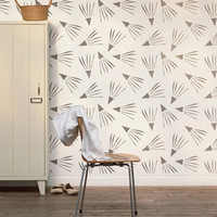 Windy Day Decorative Scandinavian Wall Stencil for DIY project, Decorative Wallpaper look and easy Home Decor