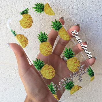 SALE...Swarovski Crystal Pineapple iPhone 6 Plus Case - Howzit