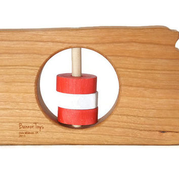 Kansas Baby Rattle - Modern Wooden Baby Toy - Organic and Natural
