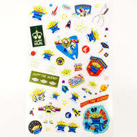 Disney Toy Story Aliens Sticker Kawaii Scrapbook Decals Planner Stickers Schedule Diary Sticker Transparent Adhesive