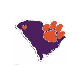 NCAA Clemson Tigers Home State Decal Auto Car Window Vinyl Sticker