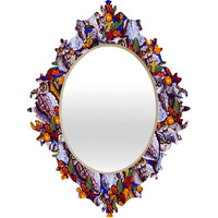 Renie Britenbucher Owls Multi Baroque Mirror