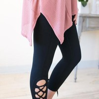 Worth Fighting For Lace Up Athletic Pants